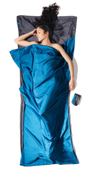 Cocoon TravelSheet Slaapzak Silk grijs/blauw